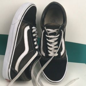 Vans off the wall suede leather canvas sneakers